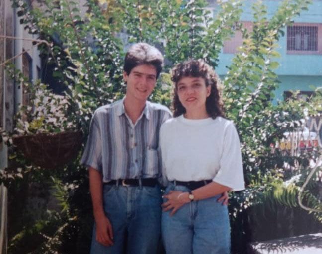 Jaidelson e Silvia nos anos 80