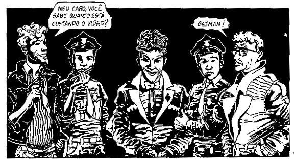 Arte de Eusébio Munoz em Bang Bat!!, da série Amaro Camarajipe, de Marcelo Scmitz.