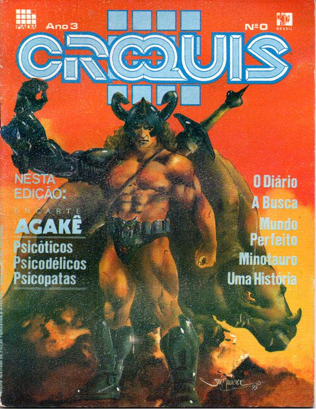 Capa da Ceoquis dos anos 90, desenhada e colorizada por Jaidelson